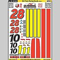 1/24 UltraCal Hi-Def Peel & Stick Decals- Dirt Track Racing Style 1 -- Slot Car Decal -- #64561
