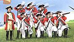 Revolutionary War British Infantry (20) -- Plastic Model Military Figure -- 1/32 Scale -- #3200