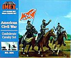 Confederate Cavalry -- Plastic Model Military Figure -- 1/72 Scale -- #504