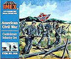 Confederate Infantry Civil War Figure Set -- Plastic Model Military Figure -- 1/72 Scale -- #506