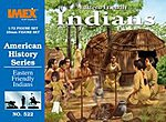 Eastern Friendly Indians -- Western Plastic Model Kit -- 1/72 Scale -- #522
