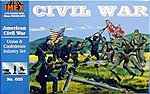 Civil War Infantry Set -- Plastic Model Military Diorama -- 1/72 Scale -- #603
