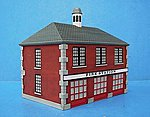 Firehouse Assembled Perma-Scene -- HO Scale Model Railroad Building -- #6105