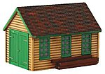 Maintenance Shed Assembled Perma-Scene -- HO Scale Model Railroad Building -- #6141