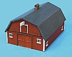 Stengel's Barn Assembled Perma-Scene -- N Scale Model Railroad Building -- #6302