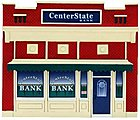 Center State Bank Assembled Perma-Scene -- N Scale Model Railroad Building -- #6316