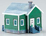 Country Cottage Assembled Perma-Scene -- N Scale Model Railroad Building -- #6349