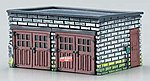2-Car Garage Assembled Perma-Scene -- N Scale Model Railroad Building -- #6351