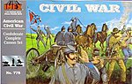 Confederate Complete Casson Civil War Set -- Plastic Model Military Diorama -- 1/32 Scale -- #778