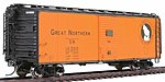 Plywood Panel 40' Boxcar Great Northern -- HO Scale Model Train Freight Car -- #46051