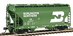 2-Bay Center-Flow Covered Hopper Burlington Northern -- HO Scale Model Train Freight Car -- #46526