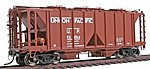 1958 Cubic Foot 2-Bay Covered Hopper Union Pacific -- HO Scale Model Train Freight Car -- #48606