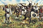 Zulu Warriors -- Plastic Model Military Figure Kit -- 1/72 Scale -- #06051