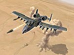 A-10 Thunderbolt II ''Gulf War'' -- Plastic Model Airplane Kit -- 1/72 Scale -- #1376s