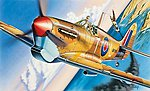 Spitfire Mk V Aircraft -- Plastic Model Airplane Kit -- 1/72 Scale -- #550001