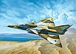 Kfir C7 Fighter Aircraft Israeli Air Force -- Plastic Model Airplane Kit -- 1/72 Scale -- #550