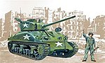Sherman M4-A1 -- Plastic Model Military Vehicle Kit -- 1/35 Scale -- #550225