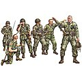 U.S Paratroopers WWII -- Plastic Model Military Figure Kit -- 1/35 Scale -- #550309