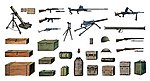 WWII Accessories -- Plastic Model Military Diorama Kit -- 1/35 Scale -- #550407