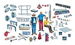 New Truck Accessories -- Plastic Model Vehicle Accessory Kit -- 1/24 Scale -- #550720