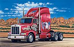 Peterbilt 377A/E Tractor Cab -- Plastic Model Truck Kit -- 1/24 Scale -- #550740