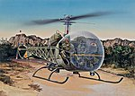 OH 13S Sioux -- Plastic Model Helicopter Kit -- 1/48 Scale -- #550857