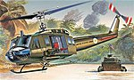 UH-1D Slick -- Plastic Model Helicopter Kit -- 1/72 Scale -- #551247