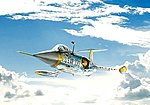 F-104 A/C Starfighter -- Plastic Model Airplane Kit -- 1/72 Scale -- #551359