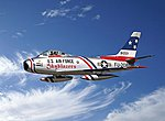 F86F Sabre Skyblazers Air Demo Team Aircraft -- Plastic Model Airplane Kit -- 1/32 Scale -- #552503