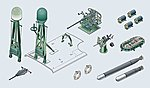 PT Boat Conversion Kit -- Plastic Model Ship Accessory Kit -- 1/35 Scale -- #555617