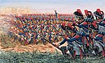 Napoleonic War - French Grenadiers -- Plastic Model Military Figure Kit -- 1/72 Scale -- #556072