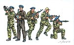 Russian Para Spetsnaz -- Plastic Model Military Figure Kit -- 1/72 Scale -- #556169