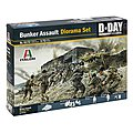 Coastal Bunker Assault -- Plastic Model Military Diorama Set -- 1/72 Scale -- #556172
