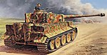 PzKpfw.VI Tiger I Ausf.E -- Plastic Model Military Vehicle Kit -- 1/35 Scale -- #556507