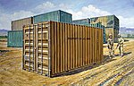 20' Military Container -- Plastic Model Military Kit -- 1/35 Scale -- #556516