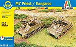 M7 Priest 105mm/Kangaroo (2pcs) -- Plastic Model Military Vehicle Kit -- 1/72 Scale -- #557513