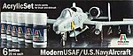 Modern USAF/US Navy Aircraft 6 Color Asst Acryli