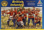 British Infantry Zulu War 1879 -- Plastic Model Military Figure Kit -- 1/72 Scale -- #6050