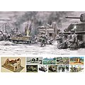 Battle of Bastogne December 1944 -- Plastic Model Military Diorama Kit -- 1/72 Scale -- #6113s