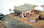 Labosky's Motorcycle Repair Kit -- Model Railroad Building -- HO Scale -- #141