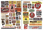 Paint and Consumer Signs 1940's &1950's -- Model Trackside Accessories -- HO Scale -- #178