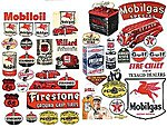 Gas Station & Oil Posters 1940's and 1950's -- Model Railroad Billboards -- HO Scale -- #184