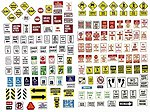 Uncommon Street Parking Signs -- Model Railroad Billboards -- HO Scale -- #202