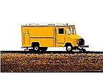 Box Van High Rail Inspection Vehicle Kit -- Model Railroad Vehicle -- N Scale -- #2031