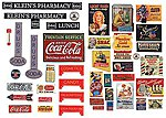 Vintage Drugstore & Pharmacy Signs 1930's to 1950's -- Model Railroad Billboard -- HO Scale -- #242