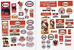 1940s-1950s Vintage Gas Station Signs Esso -- Model Railroad Billboard -- HO Scale -- #293