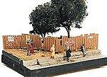 Custom Fencing w/Aging Signs -- Model Railroad Building Accessory -- HO Scale -- #305