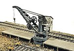 Industrial Pillar Crane and Dock -- Model Railroad Building -- HO Scale -- #391