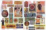 Vintage Tobbacco/Cigar/Beer Signs -- Model Railroad Billboard -- HO Scale -- #427