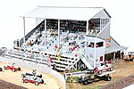Riverside Speedway Grandstand -- Model Railroad Building -- HO Scale -- #551